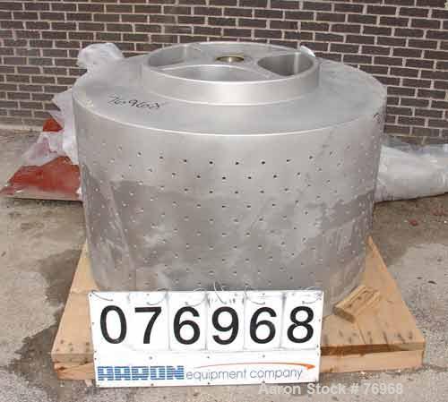 "Used- Stainless Steel Tolhurst 48"" x 30"" Perforate Basket"