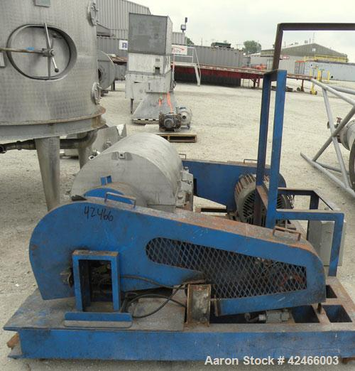 """Used-Sharples P3000 Decanter Centrifuge, 316 Stainless Steel. 3"""" single lead conveyor. 5 HP, 3/60/230/460 Volt, 1740 RPM bac..."""