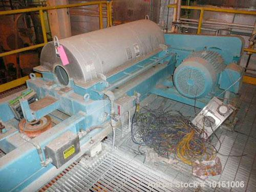 Used-Alfa Laval P-3400U Super-D-Canter centrifuge. Stainless steel construction on product contact areas, max bowl speed 400...