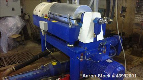 Used-Alfa Laval Aldec 402 decanter centrifuge, stainless steel 316 on product contact parts. 24.7HP/18.5kW, 50 Hz motor with...