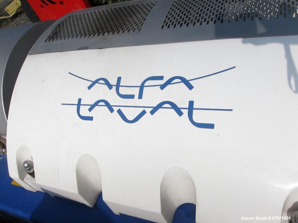 Used- Alfa Laval Aldec 556 Solid Bowl Decanter Centrifuge.(PARTS MACHINE) 2205 Stainless steel (product contact areas). Maxi...