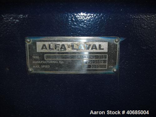 Used-Alfa-Laval AVNX 314B-31G Solid Bowl Decanter Centrifuge. 316 stainless steel construction (product contact areas), max ...