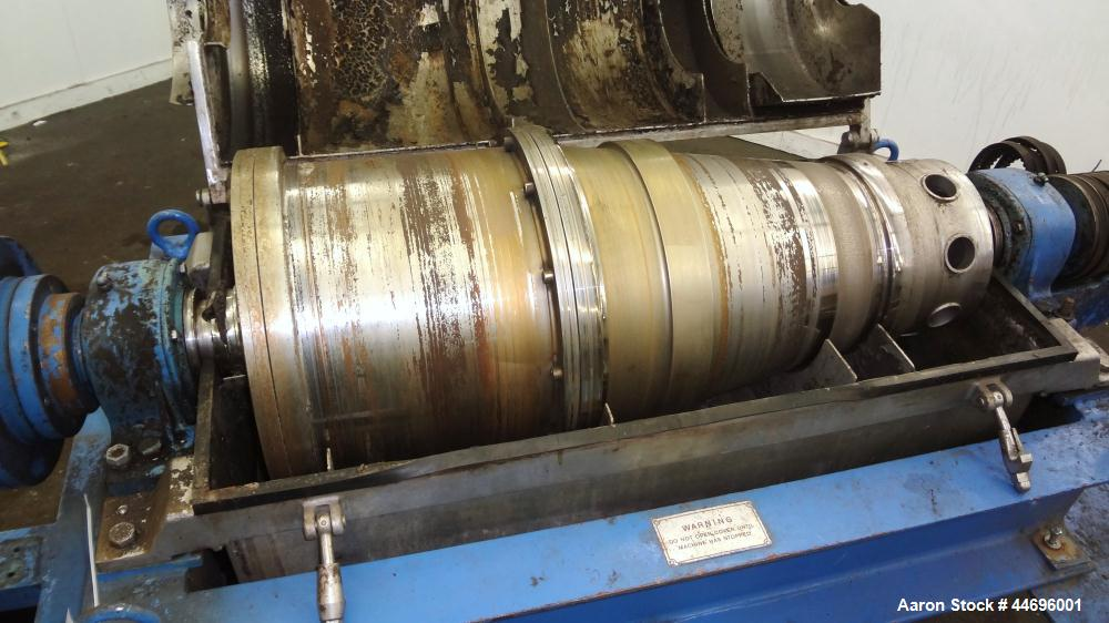 Used- Stainless Steel Alfa Laval Solid Bowl Decanter Centrifuge, AVNX-314B-31G