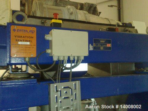 Used-Alfa Laval AVNX4030 Solid Bowl Decanter Centrifuge. Max bowl speed 4000 rpm, 316 stainless steel construction on produc...