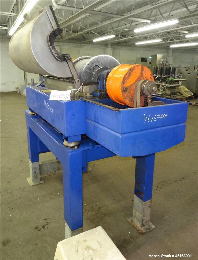 Used- Alfa Laval AVNX-4030 Decanter Centrifuge. 316 Stainless steel construction (product contact areas), maximum bowl speed...