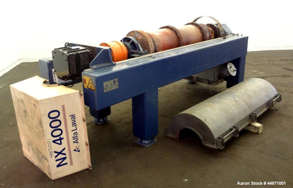 Used- Carbon Steel Alfa Laval Solid Bowl Decanter Centrifuge, AVNX-4055