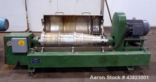 Used- Alfa Laval AVNX-416B-31G solid bowl decanter Centrifuge, Stainless steel construction on product contact areas. Maximu...