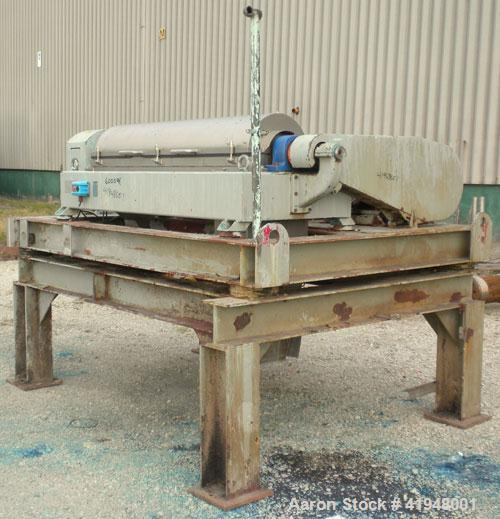 Used- Alfa Laval AVNX-418-31G Solid Bowl Decanter Centrifuge, 316 Stainless Steel (product contact areas). maximum bowl spee...