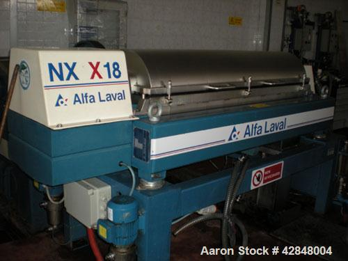 Used- Stainless Steel Alfa Laval Solid Bowl Decanter Centrifuge, AVNX-418