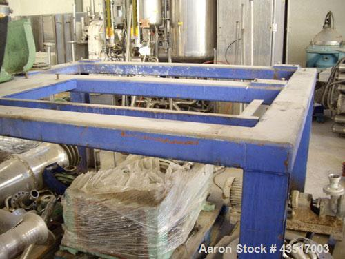 Used-Alfa Laval AVNX-418 Sold Bowl Decanter Centrifuge.  316 Stainless steel (product contact areas), max bowl speed 3250 rp...