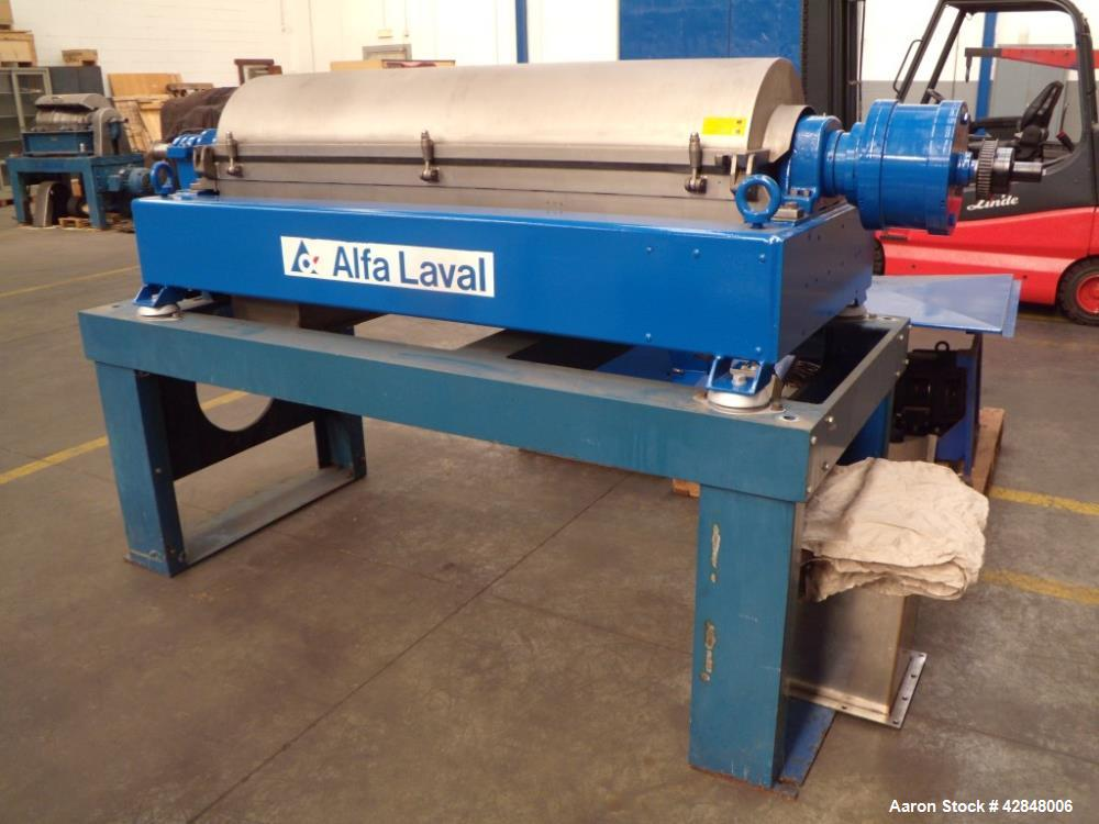 Used- Alfa Laval AVNX-418B-31 Solid Bowl Decanter Centrifuge. 2205 Stainless steel construction (product contact areas). 70 ...