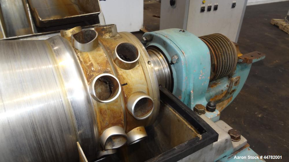 Used- Alfa Laval AVNX 418K-31/ 8820.5000.38 Solid Bowl Decanter Centrifuge, 316 Stainless Steel (product contact areas). Max...