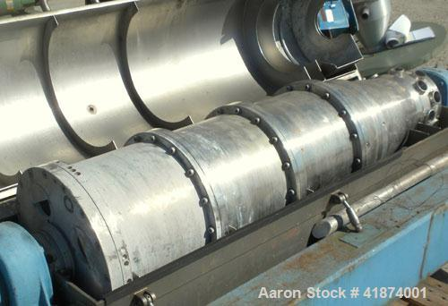 Used- Alfa Laval AVNX-418K-31 Solid Bowl Decanter Centrifuge, 316 Stainless Steel Construction (Product Contact Areas), Maxi...