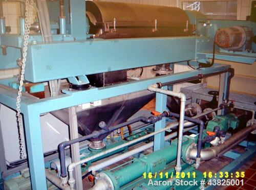 Used-Alfa Laval AVNX-419B-31G Solid Bowl Decanter Centrifuge, stainless steel construction on product contact areas. Maximum...