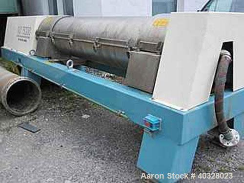 Used-Rebuilt Alfa Laval AVNX-5060-31G Solid Bowl Decanter Centrifuge. Material of construction is stainless steel on product...
