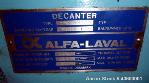 Used- Alfa Laval AVNX-5060B-31G Solid Bowl Decanter Centrifuge