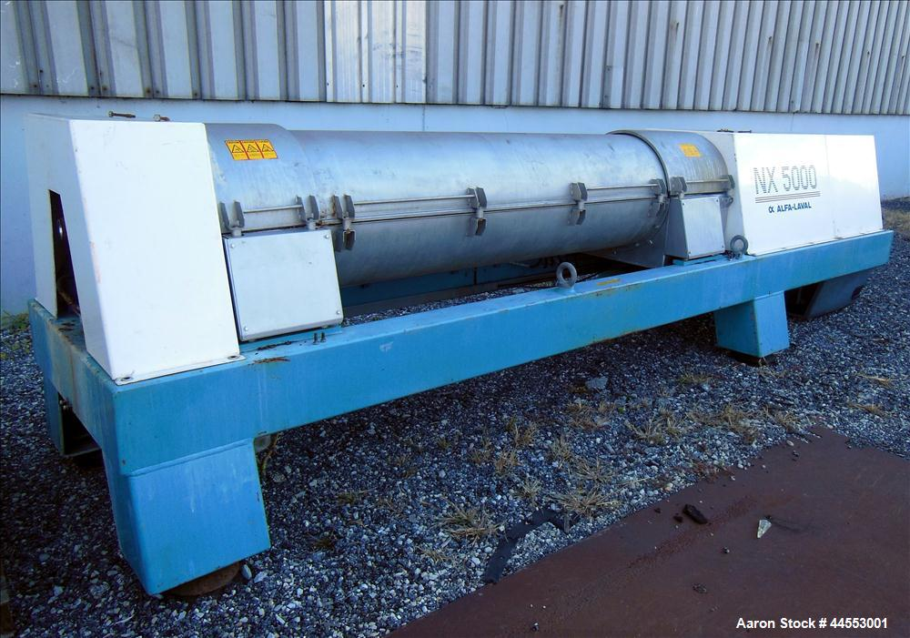 Used- Stainless Steel Alfa Laval Solid Bowl Decanter Centrifuge, AVNX-5060B-31G