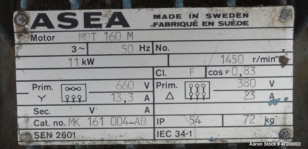 Used- Alfa Laval AVNX-616B-31G Solid Bowl Decanter Centrifuge