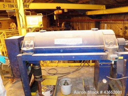 Used-Alfa Laval Decanter Centrifuge, Model AVNX 718B-31G, manufactured 1988.Previously used in wastewater treatment applicat...