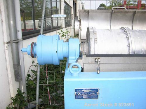 USED: Alfa Laval decanter, type AVNX-418B-11G. 316 stainless steel construction on product contact parts. Max bowl speed 300...