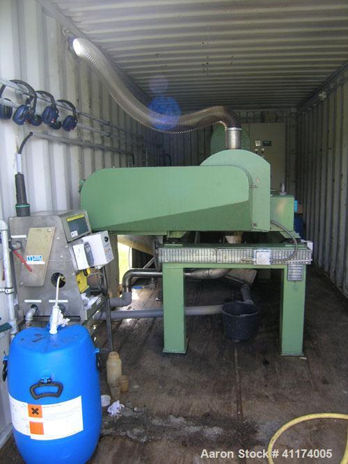 Used-Complete Sludge Dewatering Plant with Alfa Laval AVNX-418 decanter. Capacity approximately 130 kg (286 pounds) dry soli...
