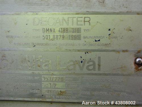 Used-Alfa Laval Solid Bowl Decanter Centrifuge