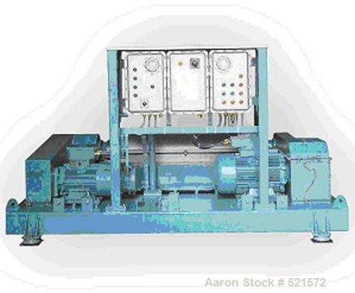 USED: Alfa Laval DMNX-418 solid bowl decanter centrifuge, stainless steel construction on product contact areas. Max bowl sp...