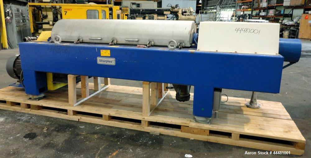Used- Alfa Laval DS-403 Solid Bowl Decanter Centrifuge. 2205 Stainless steel construction (product contact areas), bowl dime...