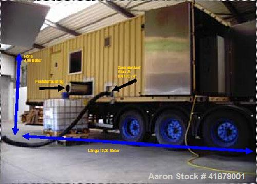 Used-Mobile Wastewater Dewatering Plant in 30' container consisting of:(1) Alfa Laval DSNX-4250 solid bowl decanter centrifu...