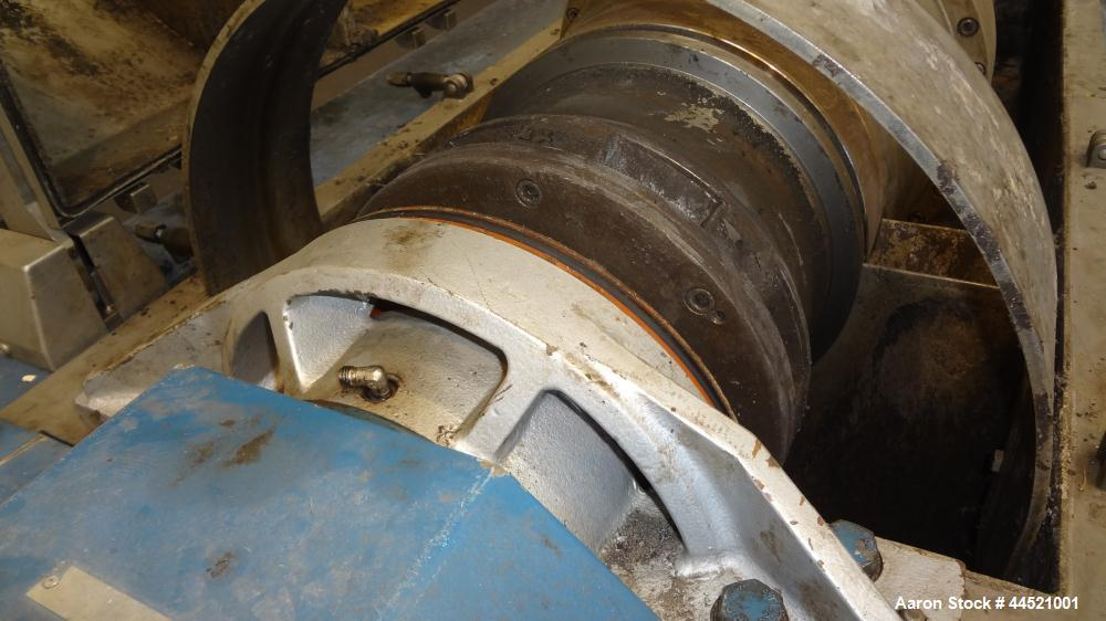 Used- Alfa Laval DSNX-4850 Solid Bowl Decanter Centrifuge.  AISI 316 (1.4401) Stainless steel construction on product contac...