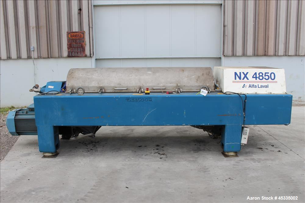 Used-Alfa Laval DSNX-4850 Solid Bowl Decanter Centrifuge