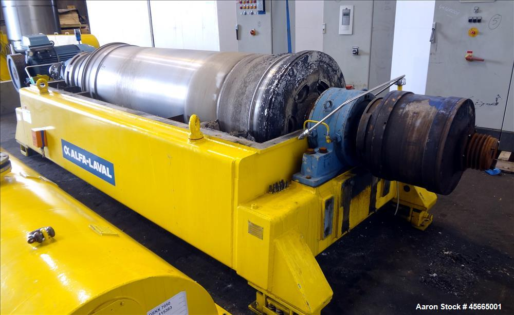 Used- Alfa Laval/Sharples DSNX 7050 Super-D-Canter Centrifuge (dry solids design). 316/317 Stainless steel construction (pro...