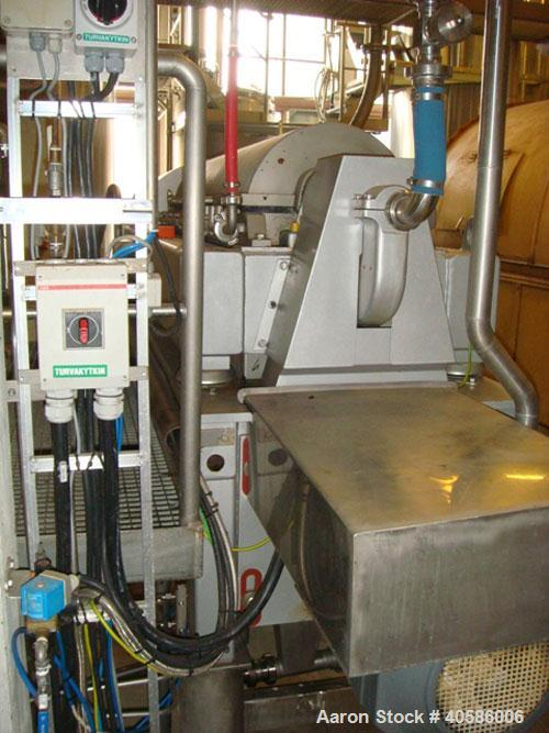 Used-Alfa Laval Foodec 300 Solid Bowl Decanter Centrifuge, 316 stainless steel. Maximum bowl speed 4000 rpm, 3150 x G force,...