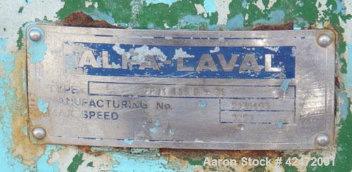 Used- Alfa Laval decanter, type NX 418B-31G. 316 stainless steel construction on product contact parts. Approximate maximum ...