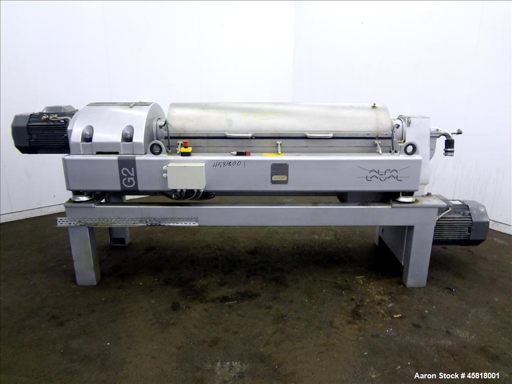 Used- Alfa Laval Aldec G2-40 Solid Bowl Decanter Centrifuge