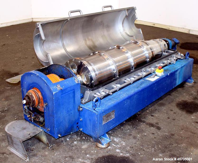 Used- Alfa Laval MRNX-418B-31 Solid Bowl Decanter Centrifuge.