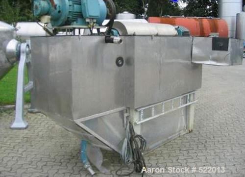 USED: Alfa Laval decanter, bowl and gearbox, type MRNX416S-31C.Material of construction is stainless steel on product contac...