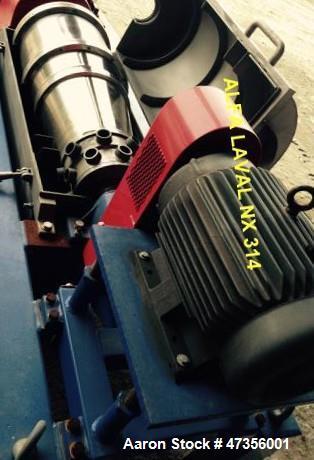 Used- Alfa Laval NX-314 Solid Bowl Decanter Centrifuge