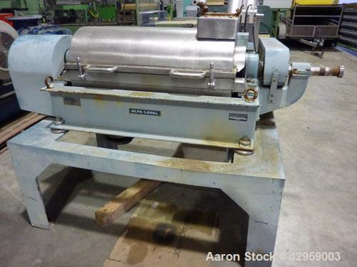 Used- Stainless Steel Alfa Laval Solid Bowl Decanter Centrifuge, NX-314B-32