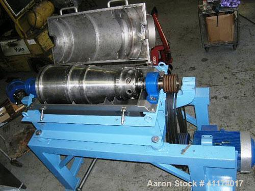 Used- Alfa Laval NX-314B-31G Solid Bowl Decanter Centrifuge, 316 stainless steel construction (product contact areas), singl...