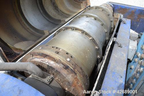 Used- Alfa Laval NX-418-31 Solid Bowl Decanter Centrifuge. 316 Stainless steel construction on product contact parts. Max bo...