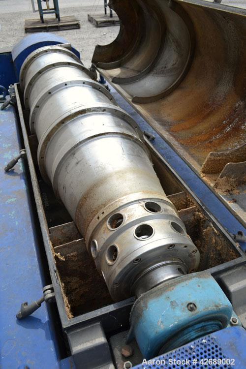 Used- Alfa Laval NX-418S-31 Solid Bowl Decanter Centrifuge. 316 Stainless steel construction on product contact parts. Max b...