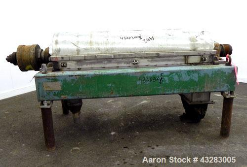 Used- Stainless Steel Alfa Laval Solid Bowl Decanter Centrifuge, Model NX-418