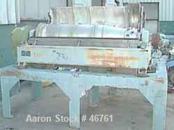 USED: Alfa Laval AVNX-418 decanter centrifuge, 316 S/S. 70mm single lead conveyor with welded hardfacing, double row cake di...