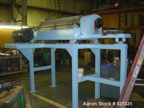 Unused-RECONDITIONED: Alfa Laval NX-418 solid bowl decanter centrifuge, stainless steel construction on product contact area...