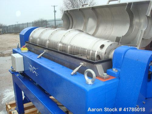 Used-Unused-Alfa Laval NX-418B-31 Solid Bowl Decanter Centrifuge, 316 stainless steel construction (product contact areas), ...