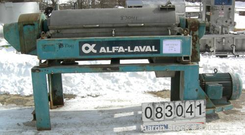 Used- Alfa Laval NX-418B-31G Solid Bowl Decanter Centrifuge. 316 stainless steel construction on product contact areas. Maxi...