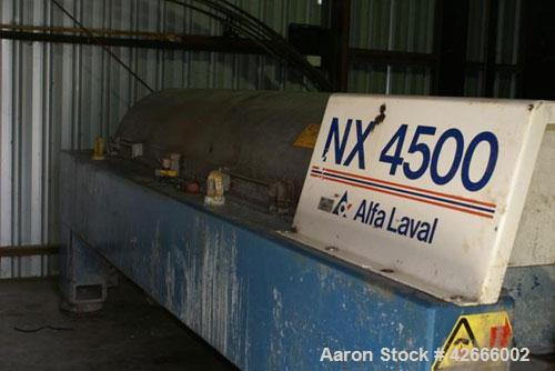 Used- Stainless Steel Alfa Laval Solid Bowl Decanter, NX-4550