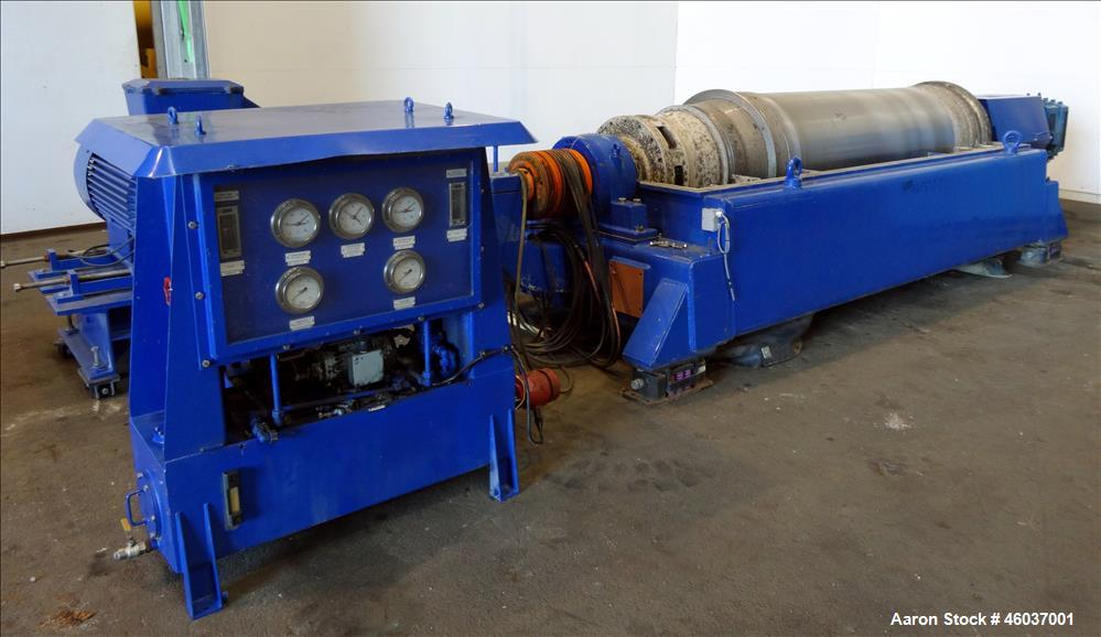 Used- Alfa Laval Sharples NX-7050 (same as a PM-75000) Super-D-Canter Centrifuge (dry solids design). 316/317 Stainless stee...