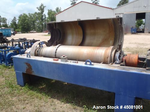 Used- Alfa Laval NX-934 (3 phase) Solid Bowl Decanter Centrifuge.  Stainless steel construction (product contact areas), max...